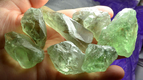 RARE Natural Green Amethyst (Prasiolite) Points Crystals