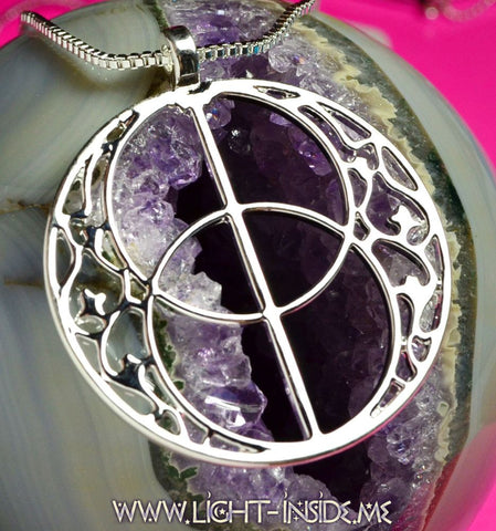 Vesica Piscis Sacred Geometry Necklace transformational tool