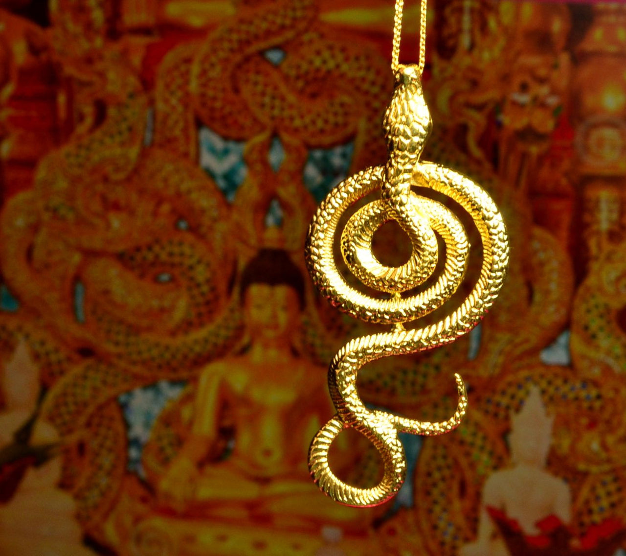 Golden Snake stainless steel Pendant Necklace