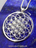 Flower of Life with Seed of Life Sacred Geometry Pendant Necklace silver/gold