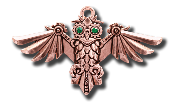 Steampunk Aviamore Owl Pendant, Brooche, or Earrings