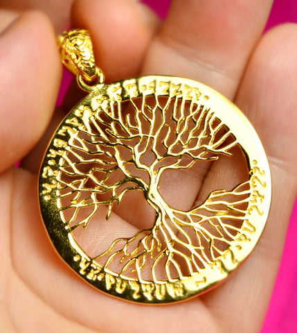 Tree of Life Pendant, Gold