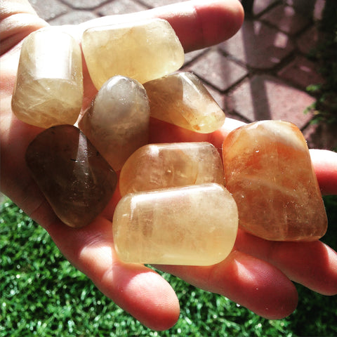 Natural African Citrine Tumbled Stones
