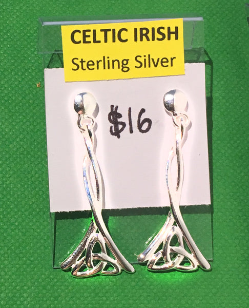 Celtic Sterling Silver Earrings