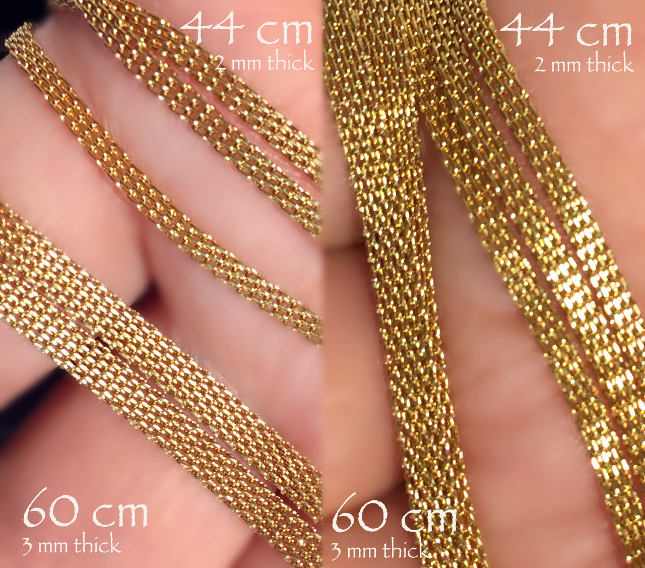 Stainless Steel flat golden color Chain