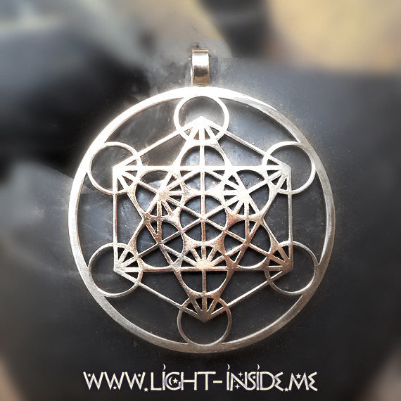 Metatron's Cube Sacred Geometry Transformational Necklace