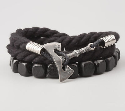 Bracelet Viking Olaf Black vue de face