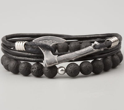 Bracelet Viking Ulf Black vue de face