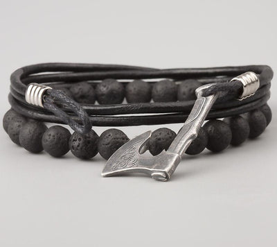 Bracelet Viking Ulf Black vue de face 2