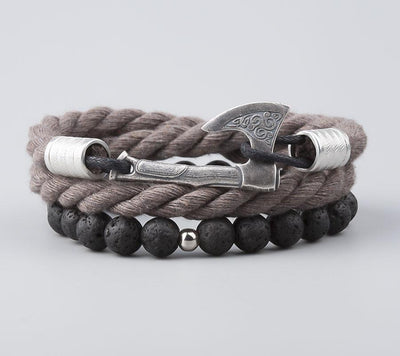 Bracelet Viking Leif Grey vue de face
