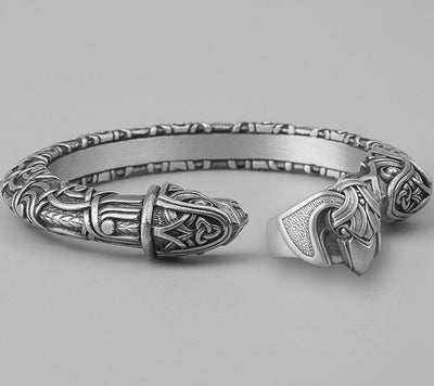 Set Viking Bracelet Hugin & Bague Hugin vue du set