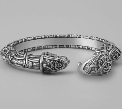 Set Viking Bracelet Hugin et Bague Triquetra vue du set