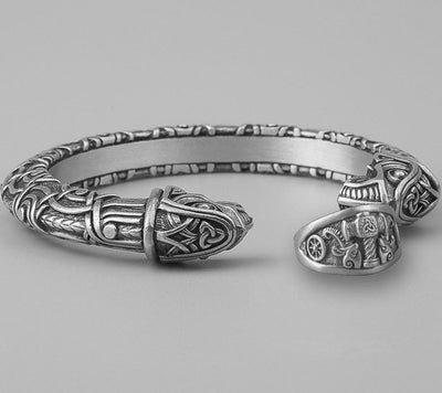 Set Viking Bracelet Hugin et Bague Mjölnir II vue du set
