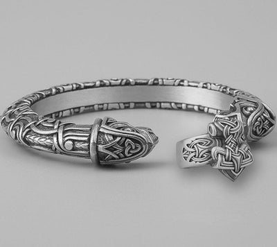 Set Viking Bracelet Hugin & Bague Mjölnir vue du set