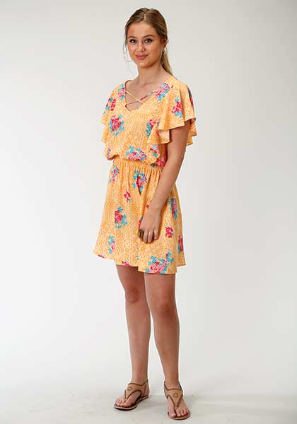 Tin Haul Floral Print Dress Style 03-057-0590-2004