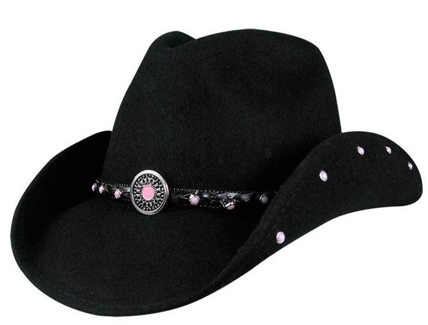 BULLHIDE BABY JANE BLACK COWGIRL HAT STYLE 0421BL