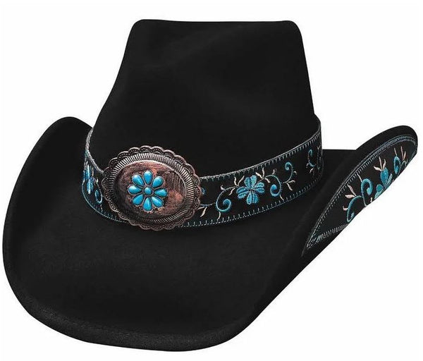 Bullhide All for Good Womens Shapeable Wool Cowboy Hat Style 0476BL