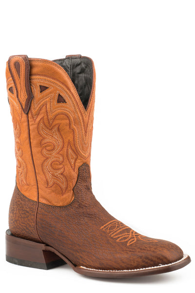 "STETSON WOMEN'S JOPLIN TAN SHARK VAMP ORANGE 11""SHAFT COWBOY BOOTS STYLE 12-021-1852-0900"