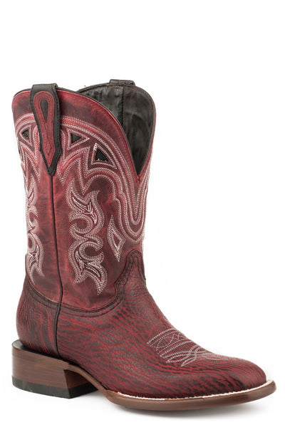"STETSON WOMEN'S MEADOW BLACK CHERRY SHARK VAMP RED 11""SHAFT COWBOY BOOT STYLE 12-021-1852-0901"