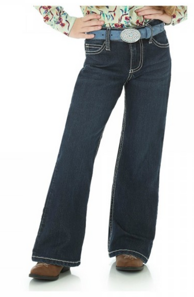 Wrangler Girls Boot Cut Jean With Embroidered Pocket Style 09MWGER