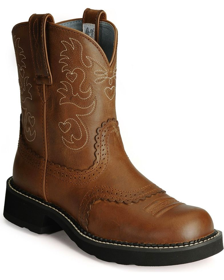 "Ariat Women's Fatbaby Scalloped 8"" Western Boots Style 10000860"