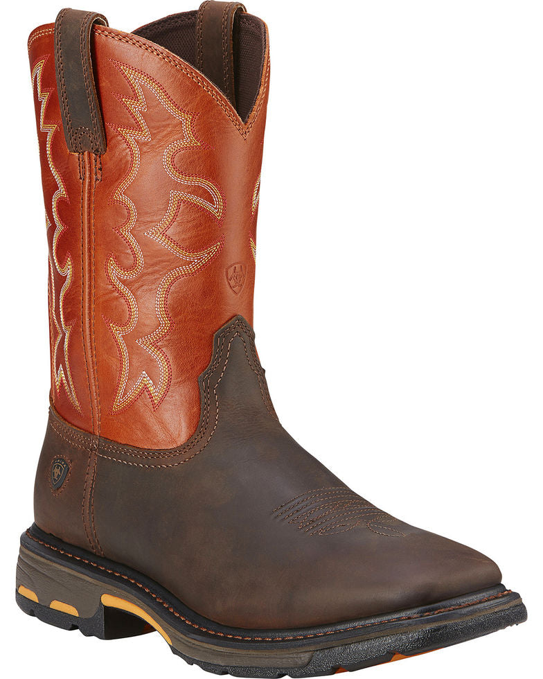 Ariat Men's Workhog Square Toe Work Boots Style 10005888