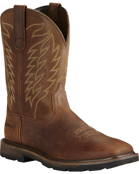 Ariat Men's Groundbreaker Square Toe Western Work Boots Style 10020059