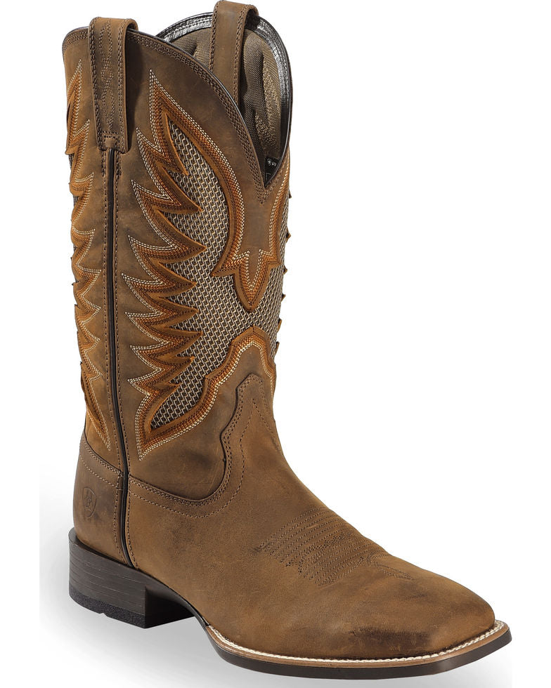 Ariat Men's VentTEK Ultra Quickdraw Square Toe Cowboy Boots Style 10023129