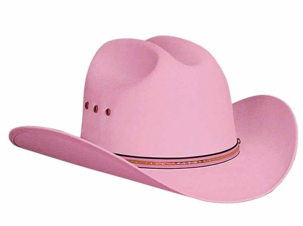 Bullhide Hats Lil' Pardner Collection Buddy Elastic Pink Cowboy Hat Style 1025P