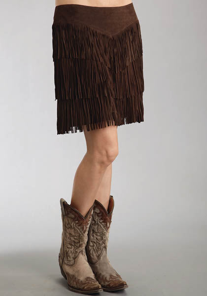 Stetson Ladies Collection Pig Suede Fringe Skirt Style 11-060-0539-0676