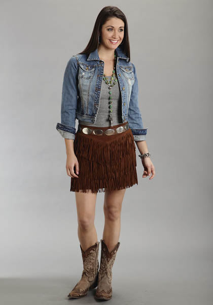 Stetson Ladies Collection Suede Fringe Skirt Style 11-060-0539-0708