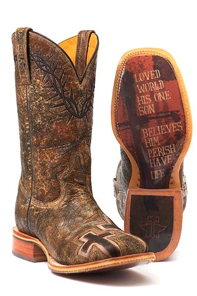 Tin Haul Men's JOHN 3:16 WITH BIBLE VERSE SOLE Boots Style 14-020-0007-0301