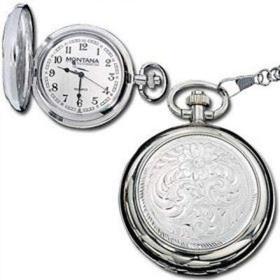 Montana Silversmith Silver Engraved Pocket Watch Style Watchp10