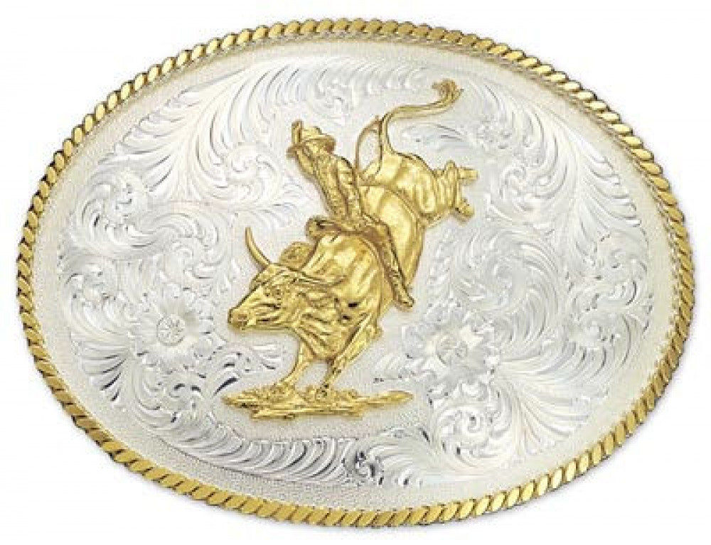 Montana Silversmith Oval Bull Riding Buckle Style 2120