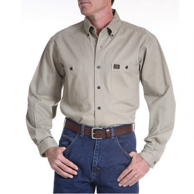 Wrangler Men's Cotton Twill Work Shirt Style 3W501KH