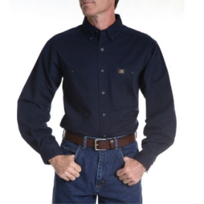 Wrangler Men's Cotton Twill Work Shirt Style 3W501NV