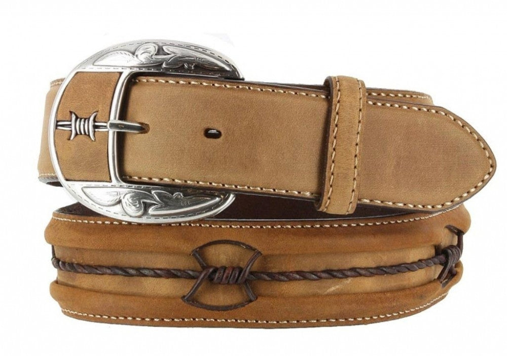 Leegin Men's Fenced In Belt Aged Bark/Copper Style C10817