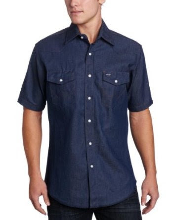 Wrangler Mens S/S Work Basic Blue Style MS3127B