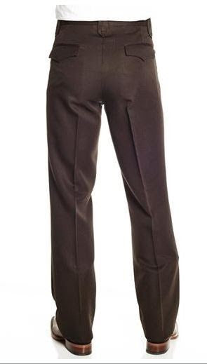 Circle S Solid Polyester Dress Ranch Pant Brown Style CP4793