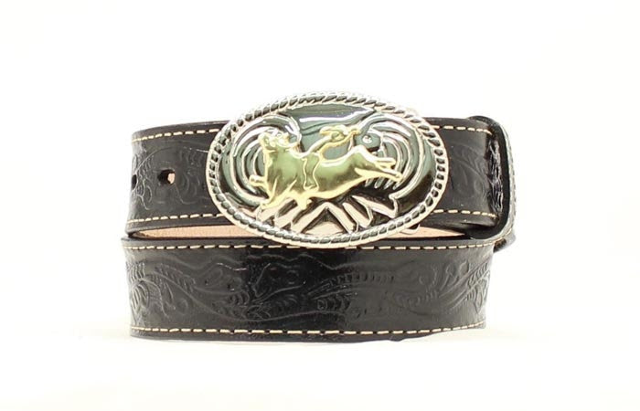 Nocona Boys Bucking Bronco Leather Belt Style N4410401
