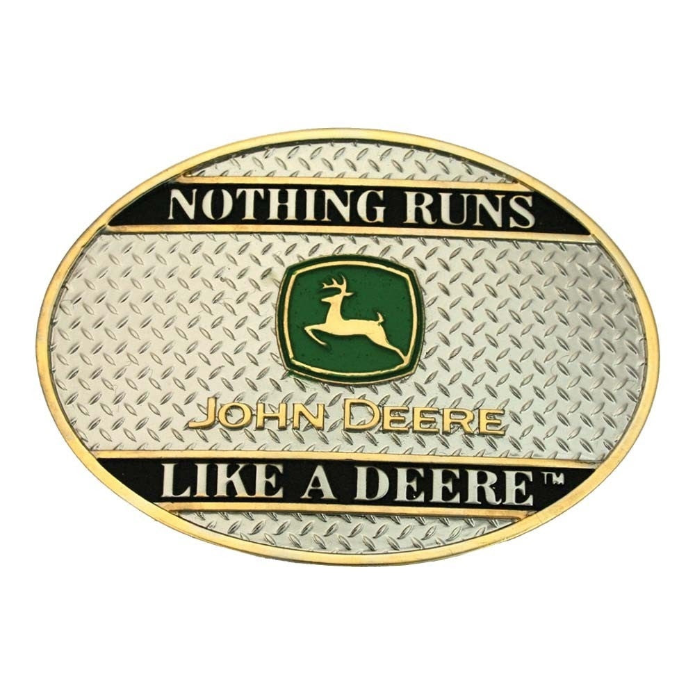 Montana Silversmith Nothing Runs like a Deere on Sheet Metal Attitude Belt Buckle Style