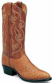 Tony Lama Men's Smooth Ostrich Exotic Western Boots Style CT873