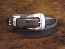 Brown Men's Belt w/ 3 Piece Silver Style N2427202