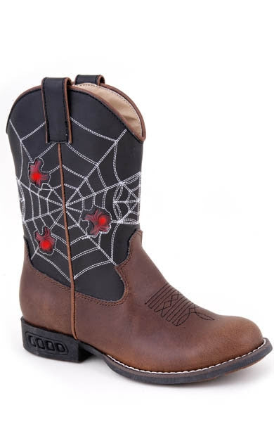 Roper Black and Brown Spider Boots w/Lights Style 09-018-1201-1211-BR