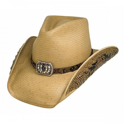 Bullhide Fashion Straw Hat Cowgirl Fantasy Style Pecan Style 2640