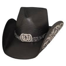 Bullhide Fashion Straw Hat Cowgirl Fantasy Black Style 2640BL