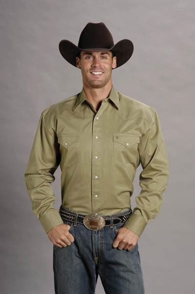 Stetson Mens Long Sleeve Shirt Style 11-001-0465-0026