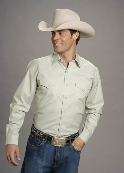 Stetson Mens Long Sleeve Shirt Style 11-001-0465-1027
