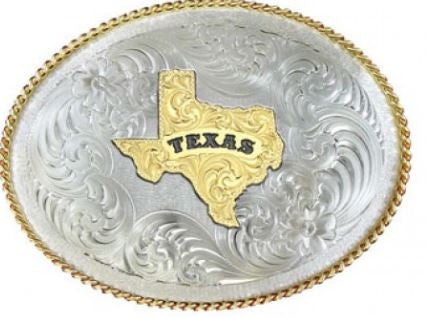 Montana Silversmith German Silver State of Texas Belt Buckle Style G1350-610TX