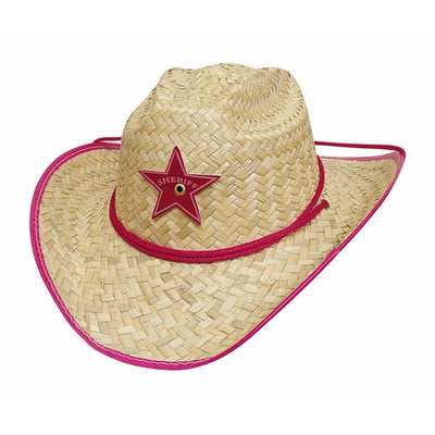 BULLHIDE RODEO PARTY PINK STRAW KIDS HAT COMPANY Style 2718P